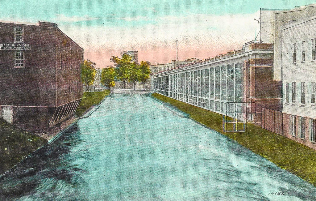 Bates Mfg. and Canal, Lewiston, ME