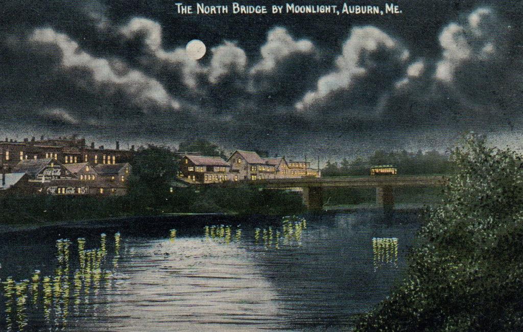 North Bridge by Moonlight, Auburn, ME