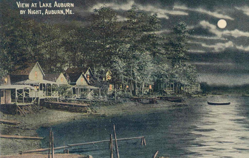View of Lake Auburn by Night, Auburn, ME