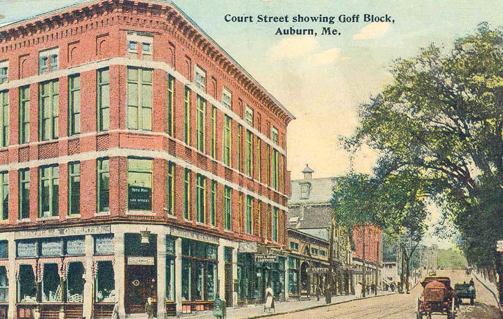 Court St., Goff Block, Auburn, ME